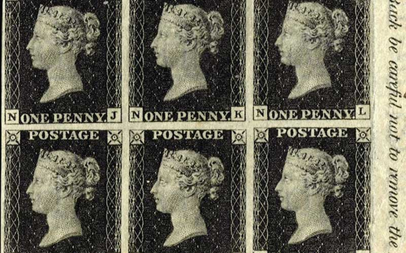 the penny-black stamp