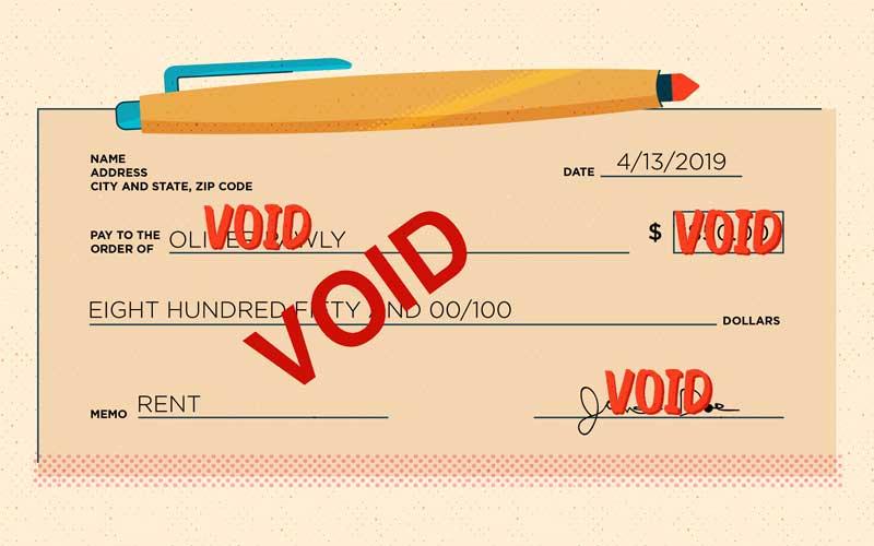 voiding a check